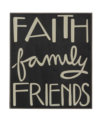 'Faith Family Friends' Box Sign