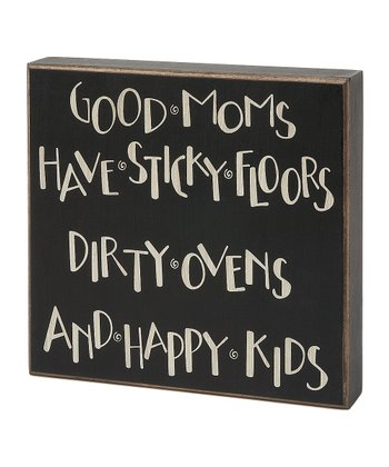 Large 'Good Moms' Box Sign