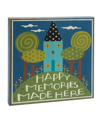 'Happy Memories Made Here' Box Sign