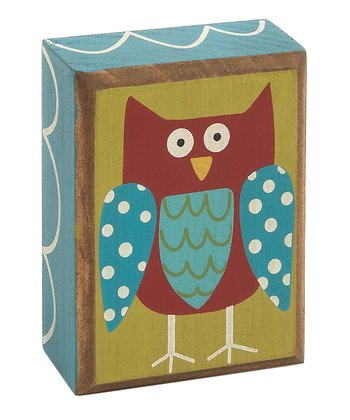 Funky Owl Box Sign
