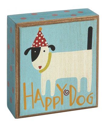 'Happy Dog' Box Sign