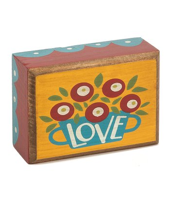 'Love' Flowers Box Sign