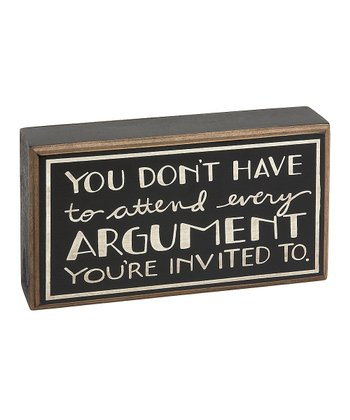 'Argument' Box Sign