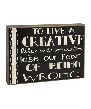 'Creative' Box Sign