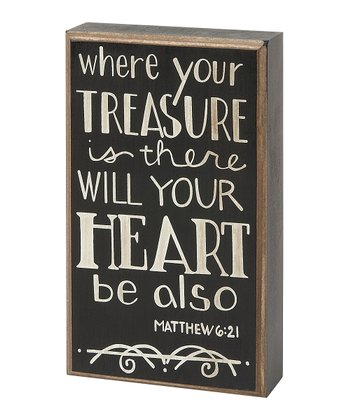 'Treasure' Box Sign