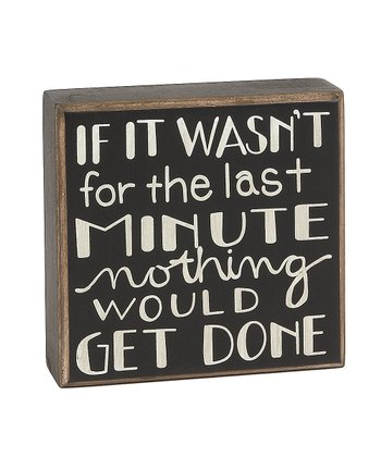 'Last Minute' Box Sign
