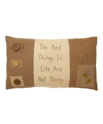 Natural 'Best Things' Pillow