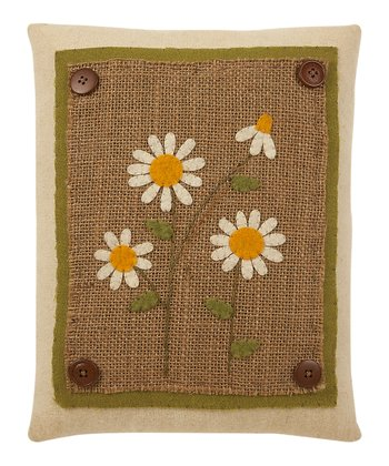 Natural Daisy Pillow