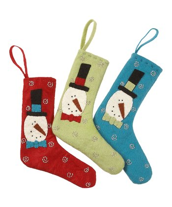 Merry & Bright Frosty Mini Stocking Set