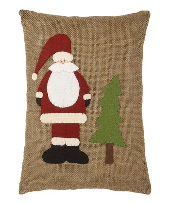 Collins Santa Burlap Pillow