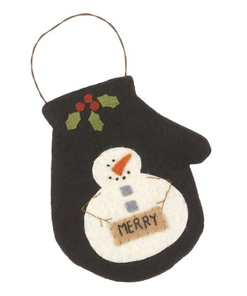 Merry Christmas Small Mitten Ornament
