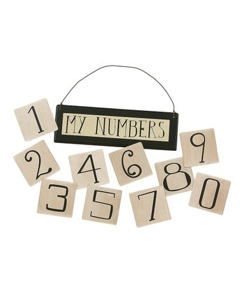 White Number Magnet & Sign Set