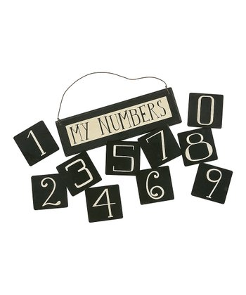 Black Number Magnet & Sign Set