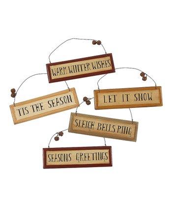 Sleigh Bell Ornament Set