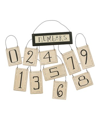 White & Black Number Ornament Set