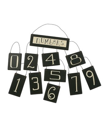 Black & White Number Ornament Set