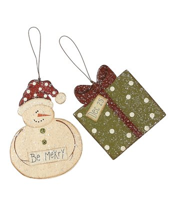 Be Merry Ornament Set