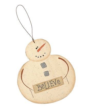 Believe Frosty Ornament
