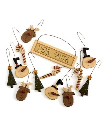 Collins Dear Santa Ornament Set