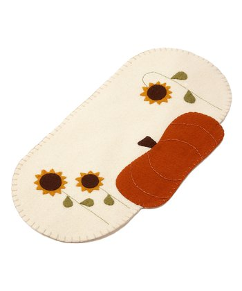 Cream Pumpkin Garden Small Table Runner