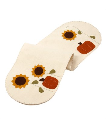 Cream Pumpkin Garden Large Table Runner