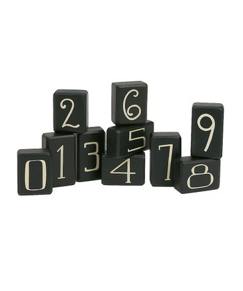 Black Number Block Set