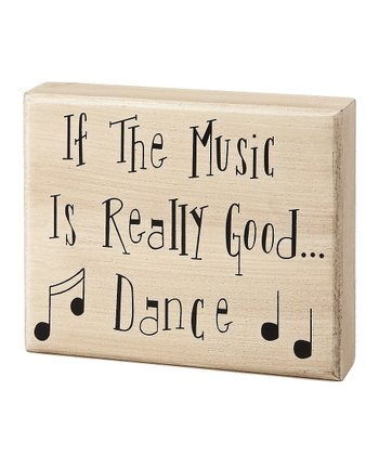 'Music is Good' Box Sign