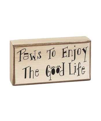 'Paws to Enjoy' Box Sign