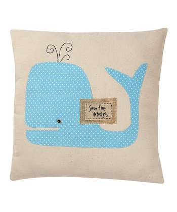 'Save the Whales' Pillow