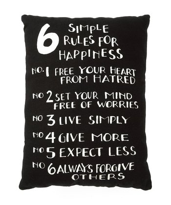 '6 Simple Rules' Pillow