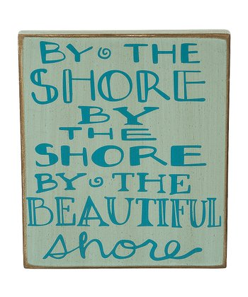 'By the Shore' Box Sign