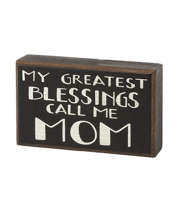 'Call Me Mom' Box Sign