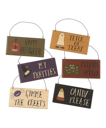 Halloween Night Ornament Set
