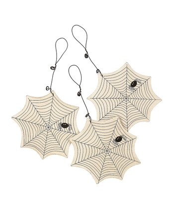 Spider Web Ornament - Set of Three