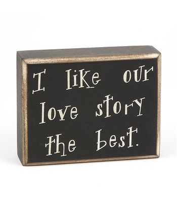 'Our Love Story' Box Sign