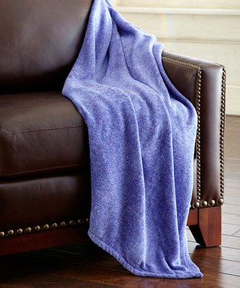 Blue Heather Coral Fleece Throw