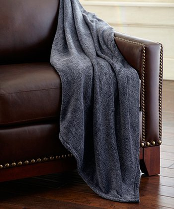 Gray Heather Coral Fleece Throw