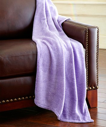 Lilac Heather Coral Fleece Throw