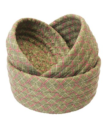 Spruce Green Nesting Bowl Basket Set