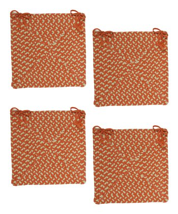 Tangerine Montego Chair Pad - Set of Four