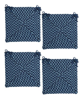 Blue Burst Montego Chair Pad - Set of Four