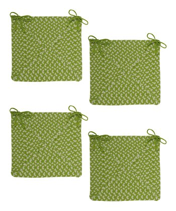 Lime Twist Montego Chair Pad - Set of Four
