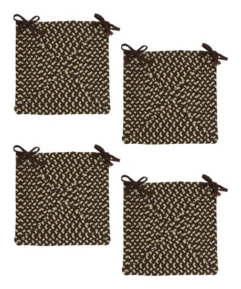 Bright Brown Montego Chair Pad - Set of Four
