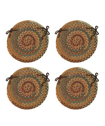 Warm Chestnut Chair Pad - Set of Four