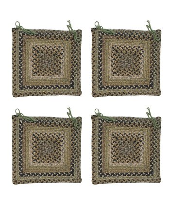 Grecian Green Ridgevale Chair Pad - Set of Four