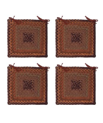 Audubon Russet Ridgevale Chair Pad - Set of Four