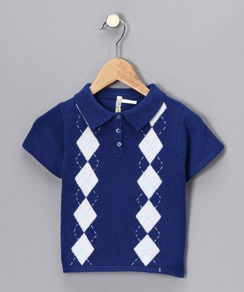 Marine Diamond Dot Polo - Toddler & Boys