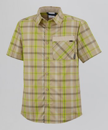 Twill Plaid Silver Ridge Short-Sleeve Button-Up - Toddler & Boys