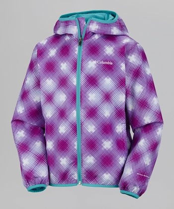 Berry Jam Window Pane Pixel Grabber Jacket - Toddler
