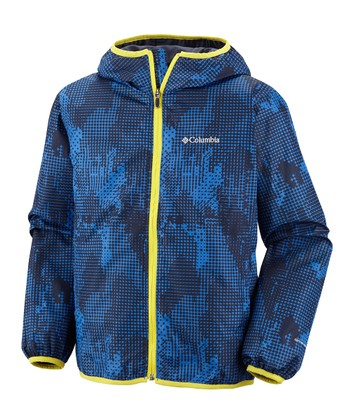 Vivid Blue Energy Dot Pixel Grabber Jacket - Kids